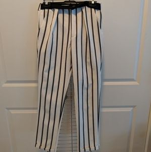 Zara Trafaluc Striped Trousers